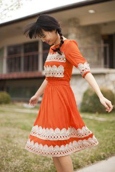 Anthropologie Tangerine Flicker Dress tutorial