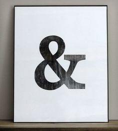 Distressed Ampersand Print