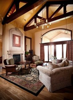 Living Room Cathedral Ceiling Design, Pictures, Remodel, Decor and Ideas