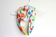 Infinity Scarf Circle Cowl Scarf Bright Floral by handmadetherapy, $24.00