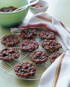 """""""Booze Chews""""  Guests are sure to be in good spirits after munching on these nutty caramel cookies. Make it a double!"""