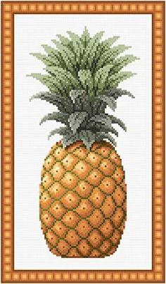 Pineapple cross stitch pattern.