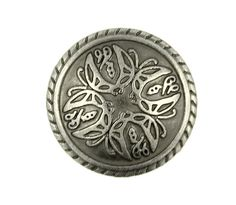 Metal Buttons  Four Butterflies Pattern Nickel Silver by Buttonova, $3.50