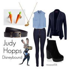 """Judy Hopps Disneybound"" by misscoco108 on Polyvore featuring Mode, J Brand, MANGO, Mirabelle, H&M und Doublju"