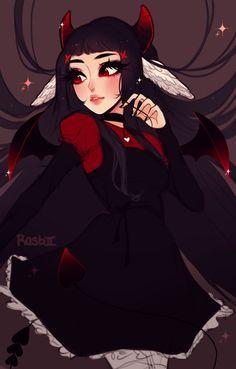 i hear the dead talk to me by Rasbii on DeviantArt Cute Art Styles, Cartoon Art Styles, Aesthetic Art, Aesthetic Anime, Pastel Goth Art, Dibujos Cute, Digital Art Girl, Dark Anime, Kawaii Art