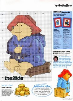 paddington cross stitch pattern - Google Search