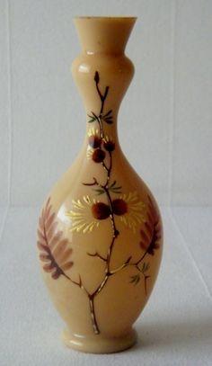 Victorian French Opaline Glass Vase