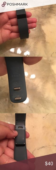 fitbit charge: slate blue, size small i've used this a lot, and it shows a little, but works like brand new! the glue that holds the band and main piece together came apart, but it only shows when you bend back the band the opposite way, you would never notice by just looking at it, and it doesn't effect the function of it! i don't have the charger either, so it is only the fitbit i'm selling! i'm selling just because i got a new one for my birthday, or else i would have continued to use it…