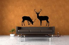 Deer Set of 2 Vinyl Wall Art Decal by VinylWallAccents on Etsy, $38.00