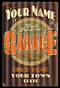 Automotive Garage Signs Posters Neon Clocks Gas Pumps And Vintage Hot Rod Memorabilia