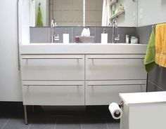 Interior, Ikea Double Vanity Godmorgon With New Handle Google Search Ikea  Bath Cabinets Double House