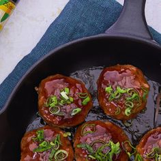 Japanese meatballs with ponzu Yaki Onigiri, Mince Meat, Fried Onions, Guacamole, Meal Prep, Fries, Tacos, Japanese, Meals