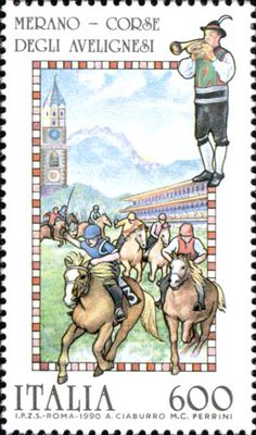 Celebrating the Avengnesi - one of Italy's most famous horse races.