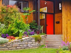 Bright red door for instant curb appeal. #red