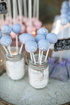 cute way to display cake pops in mason jars