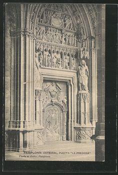 #Pamplona #Navarra. Catedral, Puerta La Preciosa.