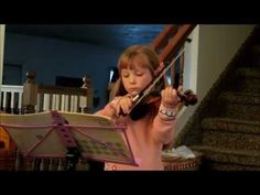 """is coming right along with her violin lessons.  She recently finished learning the very last song in Book 1 in Suzuki.  It was the longest song she has played so far.    Here she is playing """"Gavotte""""; Here she plays it a little slower than regular. See more of young violinist #daughterA_from_beckalynn3"""
