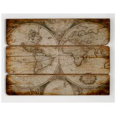 Wood Wall Map - Fluent In Frolicking Shop