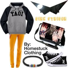 Dirk Strider (Homestuck Clothing) by hermione625 on Polyvore featuring Arizona and Bling Jewelry