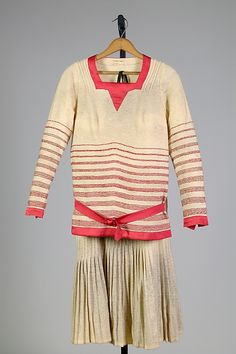 Ensemble 1927, American, Made of silk and wool