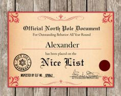 Printable Santa Letter Envelopes That Come With The Upgraded Letter And Nice List Certificate On