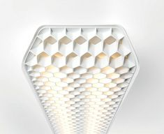 Vaeder Office Fixture by Supermodular led lighting honeycomb structure 2
