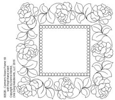 Carmen's Roses Frame - - One Song Needle Arts Adult Coloring, Coloring Pages, Whole Cloth Quilts, Rose Frame, Foil Art, Pretty Designs, Paper Quilling, Paint Designs, Glass Art