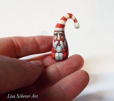 Miniature Folk Art Primitive Santa Claus Doll Dollhouse Collectible Christmas