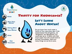 Water resource for Girl Scout Brownies working on the Wow! Wonders of Water journey.  Learn about water and easy ways to conserve it. For more fun water-related games and activities visit www.wateruseitwisely.com/kids
