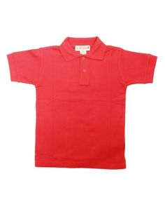Review Girls Red Short Sleeve 2 Button Polo Shirt. . http://www.amazon.com/exec/obidos/ASIN/B0058PKWE6/tipscomputer-20