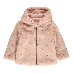 Faux Fur Jacket Pale pink  Bobo Choses