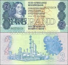 Old South African Two Rand Note