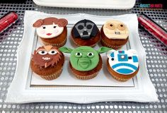 Fun cupcakes at a Star Wars birthday party! See more party ideas at CatchMyParty.com!