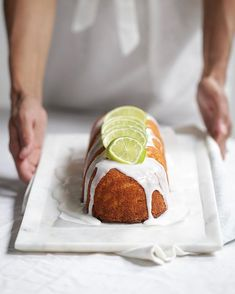 ... lime and coconut cake ...