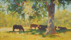 """Daily Paintworks - """"Summer Pasture"""" - Original Fine Art for Sale - © Cecile W. Morgan"""