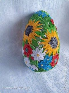 ***Квиллинг- волшебство бумажных полосок!***'s photos 3d Origami, Paper Strips, Felt Decorations, Egg Decorating, Paper Quilling, Christmas Balls, Easter Crafts, Paper Flowers, Easter Eggs