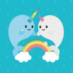 Check out our narwhal clipart selection for the very best in unique or custom, handmade pieces from our shops. Kawaii Drawings, Cute Drawings, Cute Narwhal, Art Original, Crisp Image, Unicorn Party, Oeuvre D'art, Art Images, Les Oeuvres