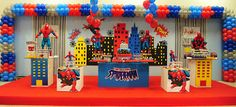 Explore the best boys birthday party themes from Super hero theme to Pirates Theme, Lego theme, Super Mario theme, Ghostbusters Theme and many more. Spider Man Party, Birthday Themes For Boys, Boy Birthday, Birthday Party Planner, Birthday Parties, Balloon Decorations, Birthday Party Decorations, Party Activities, Superhero Party