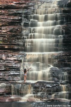 Poço Azul. Waterfall near the Chapada das Mesas. National Park, Brazil http://www.weighmyrack.com