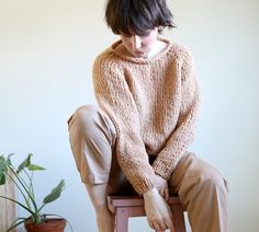Pickles Takenoko genser strikkeoppskrift og garnpakke