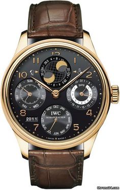Discover a large selection of IWC Portuguese Perpetual Calendar watches on - the worldwide marketplace for luxury watches. Compare all IWC Portuguese Perpetual Calendar watches ✓ Buy safely & securely ✓ Iwc Watches, Cool Watches, Iwc Replica, Moonphase Watch, Iwc Pilot, Luxury Watches For Men, Beautiful Watches, Watch Sale, Gold Watch