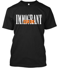 Immigrant Tee Black T-Shirt Front