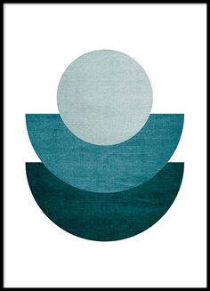 Halfmoon blue Poster in the group Prints / Graphical at Desenio AB (8998)