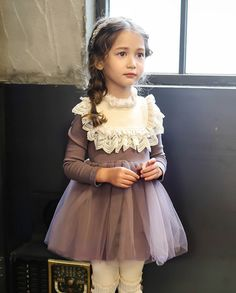 e3d75012721 2016 New Sweet Princess Lace Dress For Baby Kids Girl Clothing Tutu Webbing  Party Prom Autumn