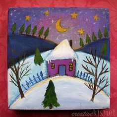 Inspiration for Elementary Art--The Little House in the Snow?