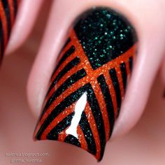 These nail stencils have a lovely and unique design that will have your manicure look like they were done in the Art Deco era.