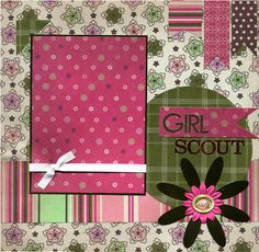 Girl Scout  12x12 Premade Scrapbook Page by SusansScrapbookShack, $16.95