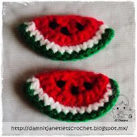 damn it Janet, let's crochet!: Watermelon Wedge Appliqué