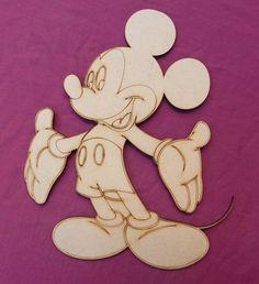 figuras mdf fibrofacil personajes infantiles 25cm pack x10