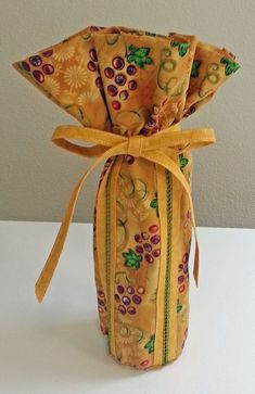How to Make a Wine Bag, with Spanish hemstitching